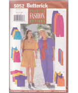 Butterick 5052, Sports Wear Tops Pants, Shorts Sashes, Sizes 20 to 24, V... - $11.00