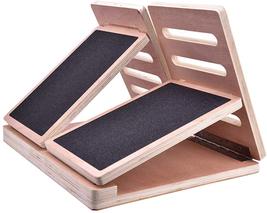 CHEN HAO Wooden Slant Board,Professional Fitness Wooden Board - Plantar ... - £91.04 GBP