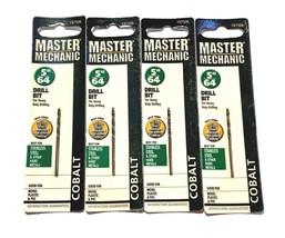 "5/64"" Cobalt Drill Bits 135 Split Point 4 Pack - $6.89"