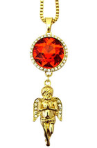 Mens Hip Hop Rich Homie Quan Rick Ross Birdman Iced Ruby Angel Pendant N... - $8.59