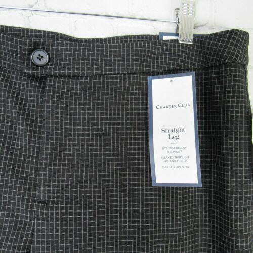 Charter Club Pants Womens Size 12 Black White Check Straight Leg MRSP $70