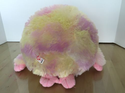 "TY Beanie Baby Monstaz Pink Lola Big Eyed Stuffed Animal w Sounds 7.5"" tall"