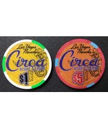 Circa Resort Casino Las Vegas Nevada $1 & $5 Casino Chips 10/28/20 Mint  - $11.95