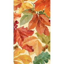 Elegant Leaves 16 Guest Napkins Fall Thanksgiving - $5.89