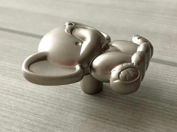 Elephant Knob Kids Knobs Baby Nursery Kids Dresser Knobs Brushed Nickel Cute