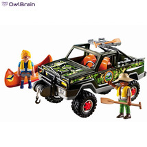 Playmobil Adventure Pickup Truck Covered With Camouflage Detailing 2 Fig... - $51.03