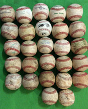 "27 USED BASEBALL BALLS - MIXED BRANDS 9"" - FREE SHIPPING - $49.95"