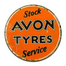 Avon Tyres Tires Service Tire Company Insignia Round MDF Wood Sign - $29.65