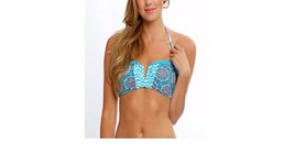 Hobie Women's Mix It Up Flounce Bandeau Bikini Top Small Multi, XL - $19.79