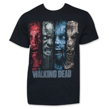 The Walking Dead Brush Stroke Men's Black Cotton Small T-Shirt NEW - $9.47