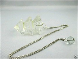 Jet Crystal Quartz Triple Bonded Pyramid Pendulum A++ Jet International ... - $11.39