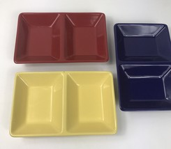 Chantal Stoneware Divided Dishes Serving Small Red Yellow Blue Candy Cru... - ₨1,396.19 INR