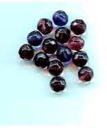 purple glass beads faceted glass beads crystal beads glass bead lot 9mm ... - $2.30