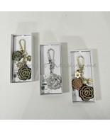 Michael Kors Rose Handbag Charm 32H8TF3K2T Pine Green OR Rose 32H8SF4K5U... - $46.00+