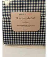 Ollie & Ellie Navy White Gingham Check Sheet Set Twin - $34.00