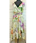 Lane Bryant Spring Floral Printed Pattern Strapless Cocktail Dress Size 28  - $33.33