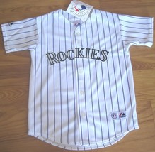 New Authentic Colorado Rockies Jersey Majestic Size Youth White Majestic - $28.01+