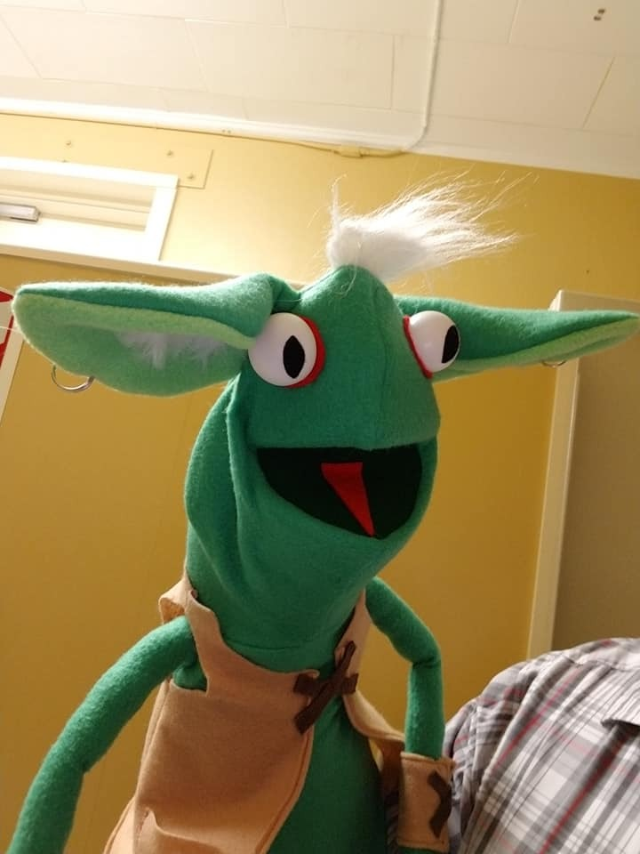 "MADE TO ORDER: Professional ""Goblin"" Muppet Style Ventriloquist Puppet"