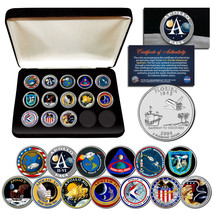 APOLLO SPACE MISSIONS FL Quarters 13-Coin Complete Set NASA PROGRAM with... - $39.55