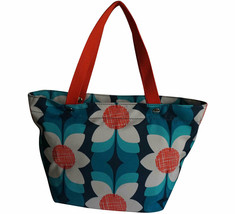 Fossil Keyper East West  Blue Floral Macys Exclusive Tote MSRP $98 New - $64.34