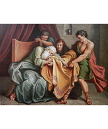 BIBLE Joseph's Bloody Coat Brought to Jacob by Coypel - SUPERB COLOR Lit... - $25.65
