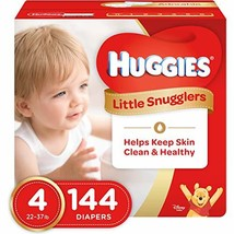 Huggies Little Snugglers Baby Diapers, Size 4 (fits 22-37 lbs.), 144 Cou... - $64.95