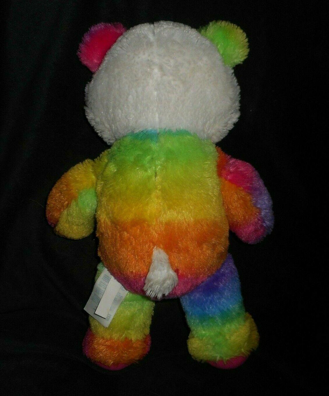 "18"" Build a Bear Pop Of Color Rosa Arcoiris Panda Osito Peluche Plush Toy image 3"