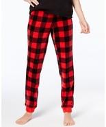 Jennifer Moore Womens Printed Jogger Pajama Pants Chili Check - $21.99