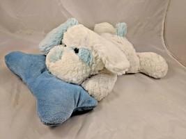 "White Blue Rattle Dog Plush Pillow Beverly Hills Teddy Bear 14"" Stuffed ... - $16.95"