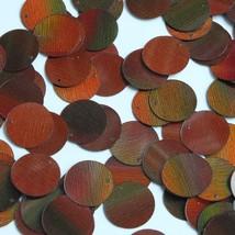 Round Sequin Paillettes 15mm Top Hole Bronze Brown Lazersheen Reflective - $14.97