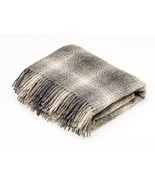 Natural Collection Pure New Wool Throw Blanket Ombre Brown - $130.87 CAD