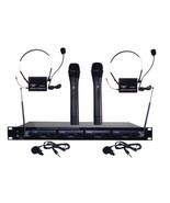 Pyle Pro PDWM4300 4-Microphone VHF Wireless Rack-Mount Microphone System - $250.41