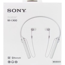 Sony WI-C400/W Wireless Bluetooth Behind-The-Neck In-Ear Headphones with... - $68.86