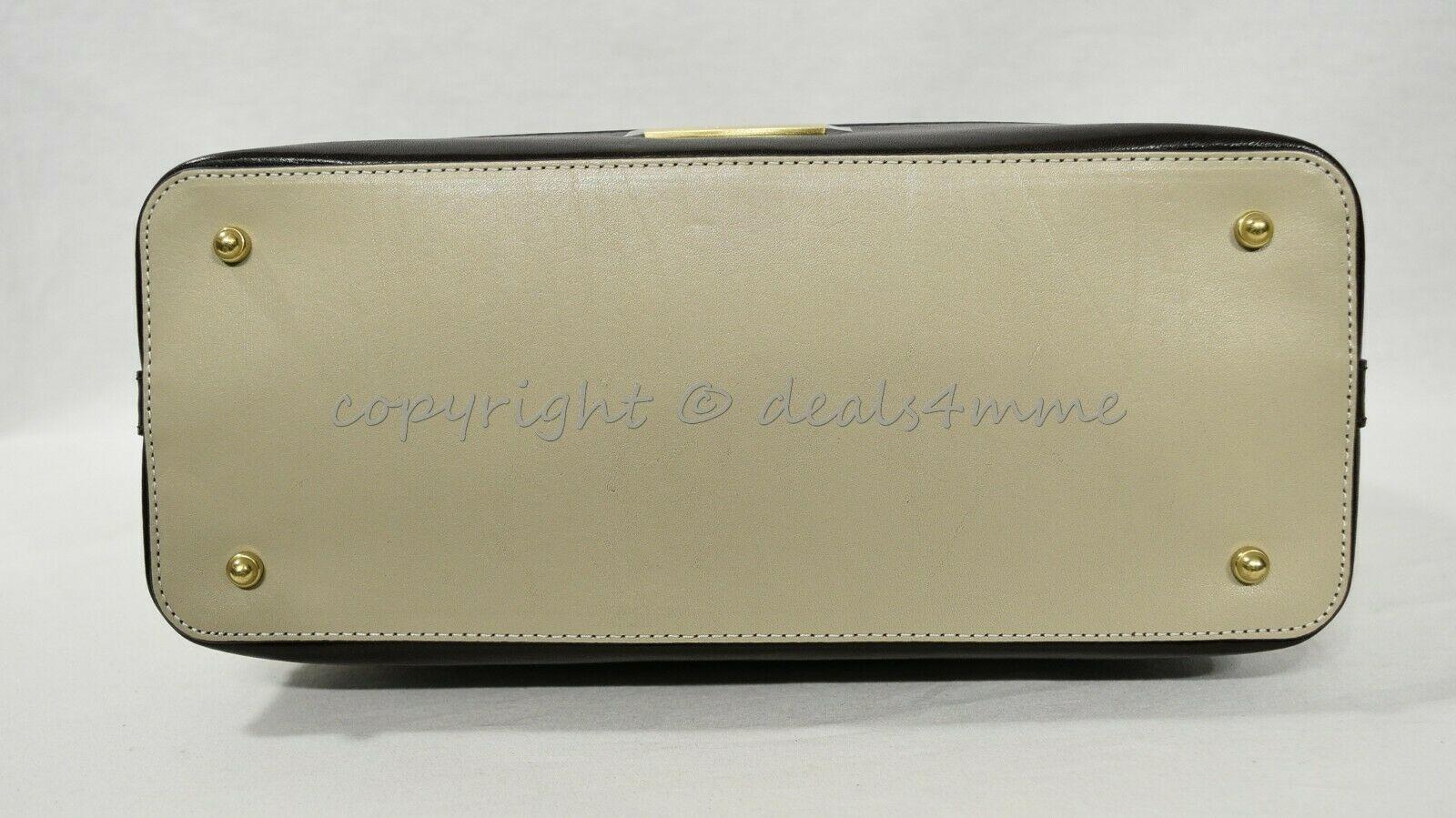 NWT Brahmin Large Duxbury Smooth Leather Satchel/Shoulder Bag in Sand Westport image 10