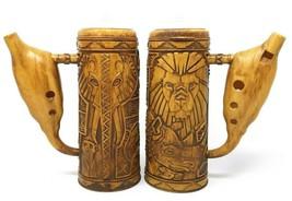 DISNEY PARKS (2) Ocarina Whistle Flute Mug Cup Sipper Lion King Parks Souvenir - $24.25