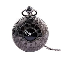 Fob Pocket Watch Vintage Roman Jewelry Pendant Necklace Gifts For Father... - $14.55