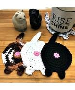 Crochet Cat Butt Coasters - $20.00