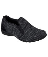 23079 Black Skechers shoes Memory Foam Women Comfort Sporty Casual Slip On Soft