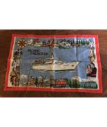 Vintage Irish Linen Pacific Princess Kitchen Tea Towel - $8.00