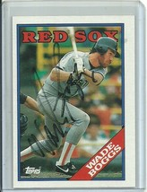 1989 Topps #200 Wade Boggs Auto Autograph Red Sox Free Shipping - $9.99