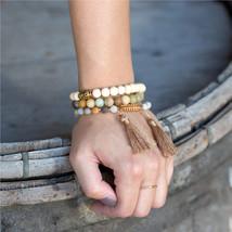 """8"""" Fashion Stretch Bracelet with Buddha Bead, Amazonite Stretch Bracelet, Adjust - $24.00"""