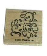 Rubber Wood Stamp Stamping Crafting Stampin Up Scroll Corner Border - $9.89