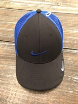 NIKE GOLF LEGACY91 TOUR MESH SWOOSH FITTED HAT CAP - Black&Blue Mens Siz... - $24.74