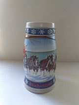1995 Budweiser Lighting the Way Home Christmas Beer Stein Vintage - $6.92