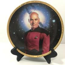 Hamilton Sammlung 1993 Star Trek The Next Generation Captain Picard Platte - $34.51