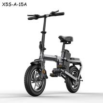 Without chain Electric Bike 14inch Mini Electric Bicycle 48V15A city ebike 30km/ - $1,216.00