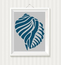 Sea snail silhouette cross stitch pattern in pdf -Chart Needlework Craft - $7.00