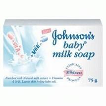 4 x Johnson & Johnson Baby Milk Soap 75 gm by GIFTSBUYINDIA - $29.92