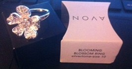 Blooming Blossom Ring, Silvertone, Size 10, New in Box, Last One! - $24.50
