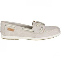 Sperry Top-Sider Coil Ivy Stone Grey Water Canvas Boat Shoes STS80623 NIB image 2
